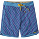 "Patagonia M's Scallop Hem Stretch Wavefarer Boardshorts 18"" Batik Hex Small Multi: Radar Blue"
